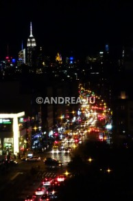 Looking north up Bowery & the Empire State Building.