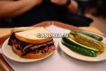 Katz's pastrami sandwich.
